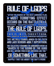 Rule of LGOP Blue Metal Wall Sign (12X15)