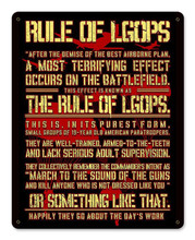 Rule of LGOP Red Metal Wall Sign (12X15)