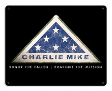 Charlie Mike Metal Wall Sign (12X15)