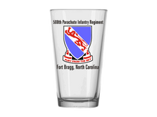 508th Parachute Infantry Regiment Pint Glass