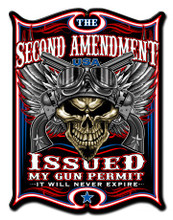 2ND AMENDMENT ISSUES Metal Wall Sign (14X19)