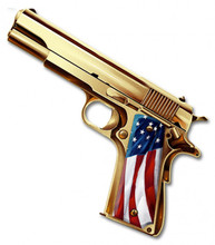 Golden Gun Metal Wall Sign (16X14)