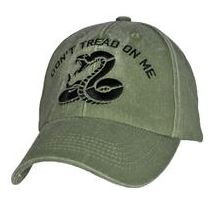 Don't Tread On Me OD GREEN CAP