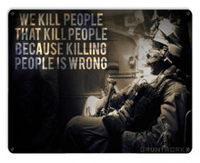 Killing People Is Wrong Metal Wall Sign (12X15)