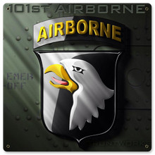 101st Airborne Metal Wall Sign (12X12)