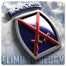 10th Mountain Metal Wall Sign (12X12)