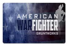American Warfighter Metal Wall Sign (18X12)