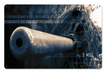 I Will Metal Wall Sign (18X12)