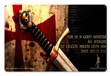 God's Minister Metal Wall Sign (18X12)