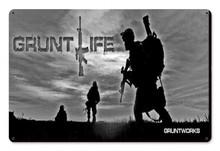 Gruntlife Metal Wall Sign (18X12)