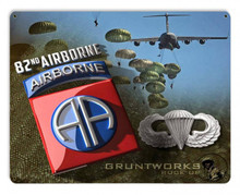 82nd Airborne Metal Wall Sign (15X12)