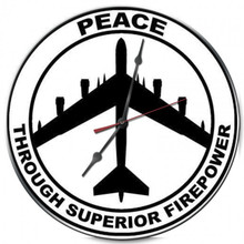 Peace through Superior Firepower Clock (14X14)