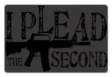 I Plead Metal Wall Sign (18X12)