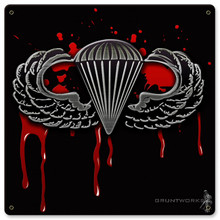 Blood Wings Metal Wall Sign (12X12)