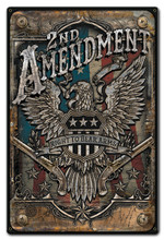 2ND AMENDMENT Metal Wall Sign (12X18)