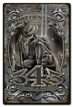 FALLEN BROTHERS Metal Wall Sign (12X18)
