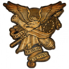 DUTY HONOR COUNTRY Metal Wall Sign (30X28)