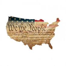 CONSTITUTION USA Metal Wall Sign (25X16)