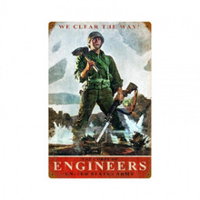 ARMY CORPS OF ENGINEERS Metal Wall Sign (12X18)