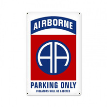 82ND AIRBORNE PARKING Metal Wall Sign (12X18)