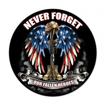 NEVER FORGET Metal Wall Sign (14X14)