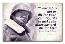 PATTON QUOTE Metal Wall Sign (18X12)