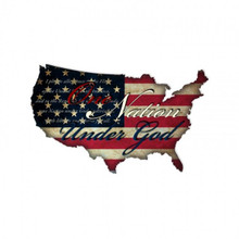 ONE NATION USA Metal Wall Sign (25X16)