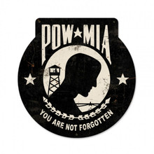 POW MIA Metal Wall Sign (16X16)