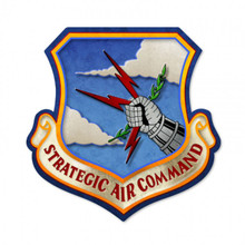 STRATEGIC AIR COMMAND Metal Wall Sign (17X17)