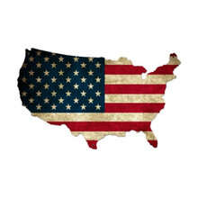 USA UNITED STATES FLAG Metal Wall Sign (26X16)
