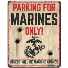 USMC PARKING Metal Wall Sign (12X15)
