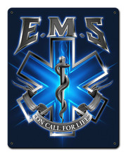 EMS ON CALL Metal Wall Sign (12X15)