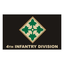 4th Infantry Division 3X5 Flag