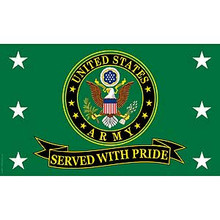 US Army Served With Pride 3X5 Flag