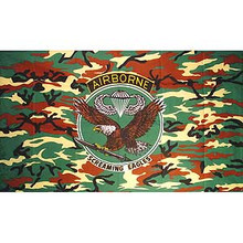 Screaming Eagles Camo 3X5 Flag