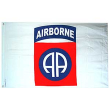 82nd Airborne Division White 3X5 Flag