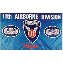 11th Airborne Division 3X5 Flag