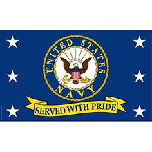 United States Navy Served With Pride 3X5 Flag