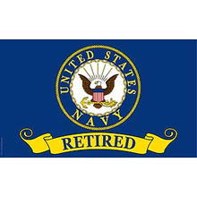 United States Navy Retired 3X5 Flag
