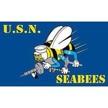United States Navy Seabees 3X5 Flag