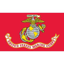 United States Marines with Banner 3X5 Flag