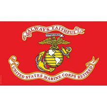 United States Marines Retired 3X5 Flag