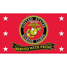 United States Marines Served With Pride 3X5 Flag
