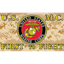 United States Marines First To Fight 3X5 Flag