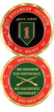 "1st Infantry Division ""The Big Red One"" Challenge Coin"