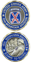 """10th Mountain """"Climb To Glory"""" Challenge Coin"""