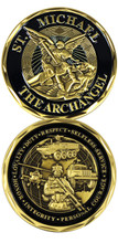 St. Michael The Archangel Challenge Coin
