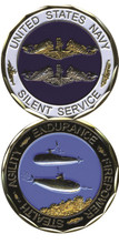 US Navy Silent Service Challenge Coin