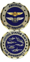 US Navy Air Warfare Challenge Coin