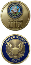 US Navy Proud Navy Mom Challenge Coin